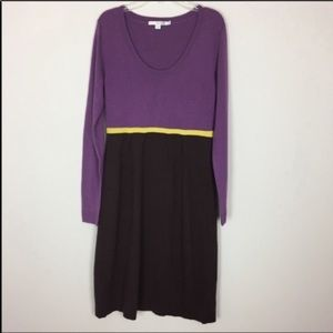 Boden • Lilac & Brown Sweater Dress